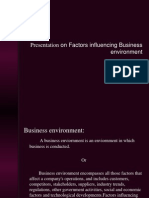 Presentation on Factors Influencing Business Environment