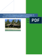 Vanuatu Energy and Rural Economic Development Study, May 2010, Tyler Szabo