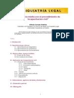 La pericial médica en el procedimiento de incapacitación civil