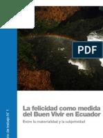 La Felicidad Como Medida Del Buen Vivir en Ecuador