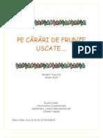 PE CĂRĂRI DE FRUNZE USCATE