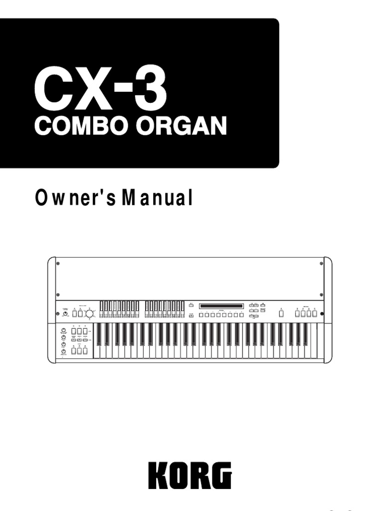 korg cx3 manual synthesizer electromagnetic interference rh scribd com korg cx3 repair manual