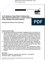 An Evolutionary Stage of Outsourcing Model