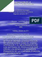 Adm. de la Producción y Operaciones.
