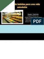 Recomendaciones sobre el consumo de bebidas  para la población mexicana los 6 niveles