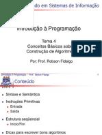 COCEITOS DE ALGORITMOS
