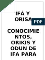 IFÁ Y ORISA- libro antonio