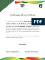 CONSTANCIA DE CAPACITACION