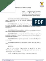 RESOLUÇÃO CFP_TITULO DE ESPECIALISTA