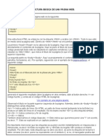 ESTRUCTURA BASICA DE UNA PAGINA WEB