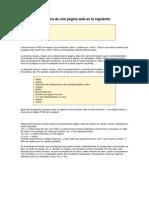 La estructura básica de una página web