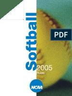 2005 Softball Rules