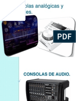 Consolas analógicas y digitales