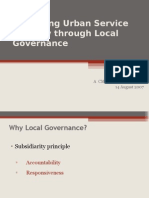Presentation on Urban Service Delivery