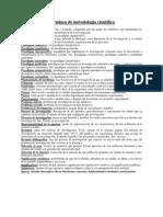Terminos de metodología científica