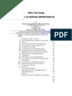 Mao - Sobre La Nueva Democracia