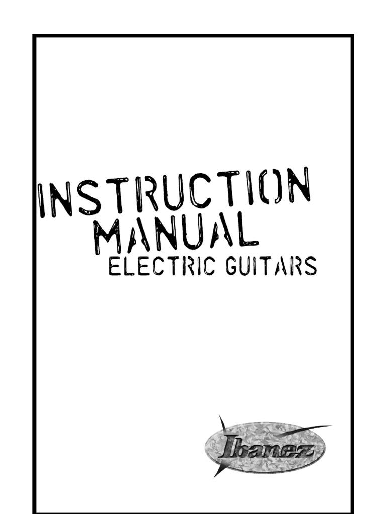 Ibanez Guitar Manual 2009   Guitars   on