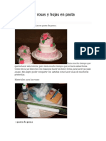 Como Hacer Rosas y Hojas en Pasta de Goma