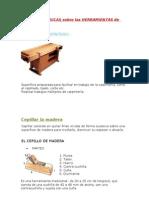 NOCIONES BASICAS SOBRE LAS HERRAMIENTAS DE CARPINTERÍA
