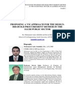 Alalshikh & Male - VM Approach for D-B-B Procurement