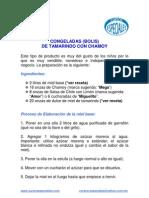 as (Bolis) Tamarindo y Chamoy