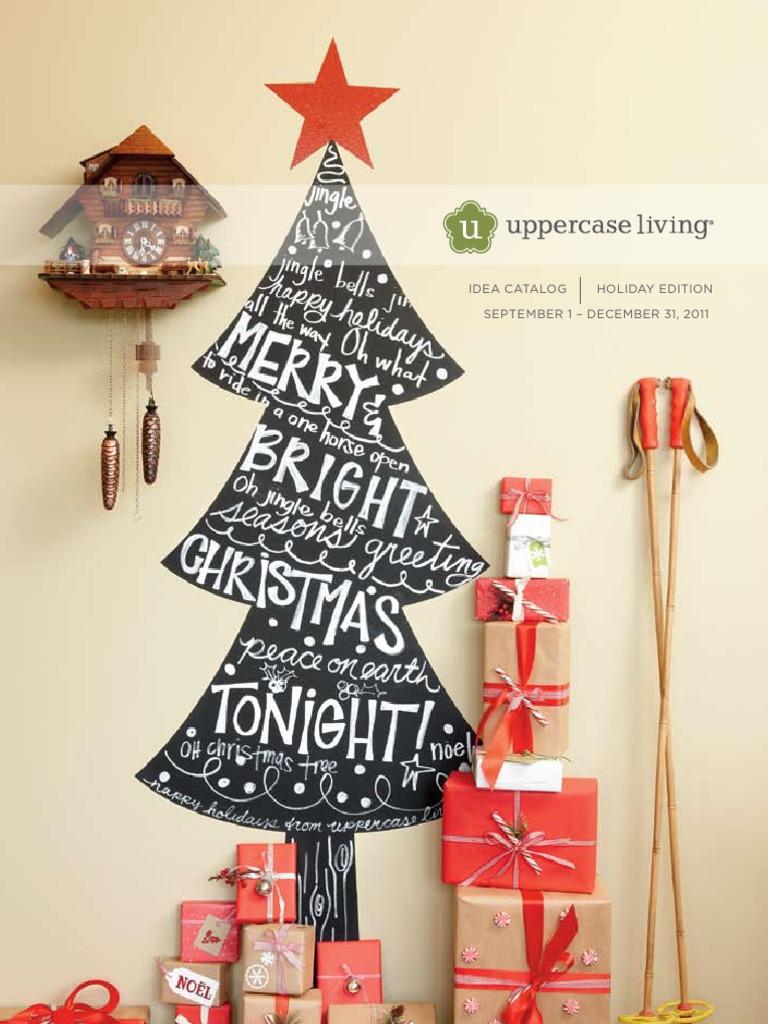 Uppercase Living 2011 Holiday Mini Catalog | Christmas And Holiday Season |  Christmas