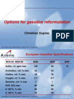 Options for Gasoline Reformulation