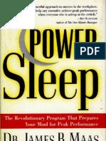 [Dreaming - Traum] James Maas - Power Sleep