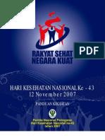 Panduan Hari Kesehatan Nasional Ke-43 Tahun 2007
