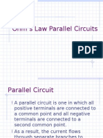 Ohm's Law Parallel Circuits