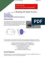 1_Modeling DC Motor Position