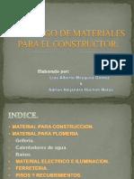 Catalogo de Materiales Para El Constructor