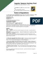 G's 1112 Hockey Pool - Rules & Regs[1]