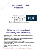 Introduction to Pr-LuAG Scintilla Tor