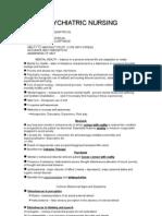 Psychiatric Nursing Notes