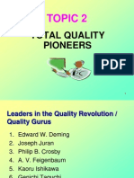 Topic Two - TQ Pioneers New