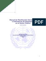 Manual de Planificación Estratégica e Indicadores de Desempeño en el Sector Público