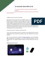 Comment de renouveler Xoom Wifi à la 3G