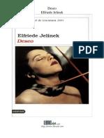 Elfriede Jelinek - Deseo