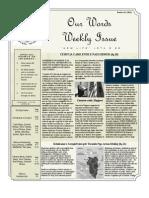 Newsletter Volume 3 Issue 46