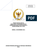 Pidato Pembukaan MS II 2011-12