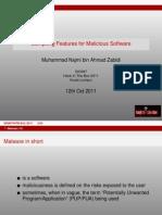 D1 SIGINT - Muhammad Najmi Ahmad Zabidi - Compiling Features for Malcious Binaries