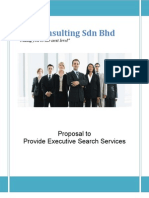 Proposal to Provide Executive Search Services