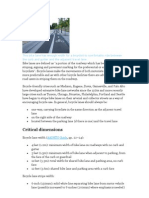 Bike Lane Dimension Guidelines