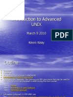 Introduction to Advanced UNIX 2010