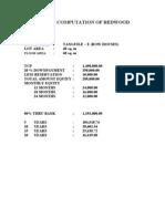 Sample Computation of Redwood Bank