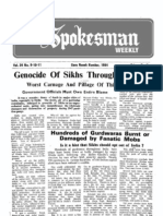 The Spokesman Weekly Vol 34 No 9-10-11 Guru Nanak Number, 1984