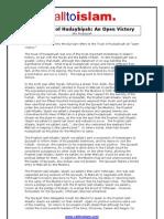The Truce of Hudaybiyah an Open Victory - Abu Ruqayyah
