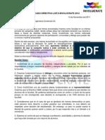 Comunicado Directiva Lista Involucrate 2012