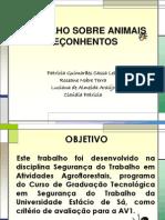 TRABALHO SOBRE ANIMAIS PEÇONHENTOS